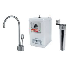 Franke LB7280-FRC-HT  The Little Butler Series Filtered Cold & Instant Hot Water Dispenser Combo, Satin Nickel