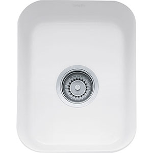 "Franke CCK110-13WH Cisterna 14 3/8"" Single Basin Undermount Fireclay Kitchen Sink - White"