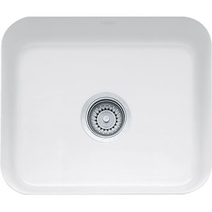 "Franke CCK110-19WH Cisterna 21 5/8"" Single Basin Undermount Kitchen Sink Fireclay - White"