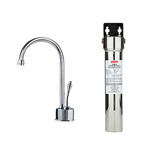 Franke DW6100-FRC  Farm House Little Butler Cold Filtration Combo, Polished Chrome