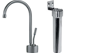 Franke DW7080-FRC Cold Water Dispenser Traditional Faucet Combo, Satin Nickel