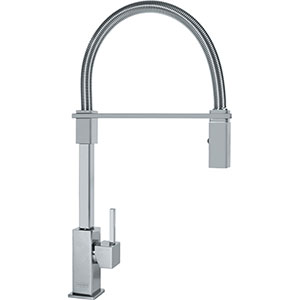 Franke FF2880 Planar 8 Series Pull-Down Kitchen Faucet With Side Lever, Satin Nickel