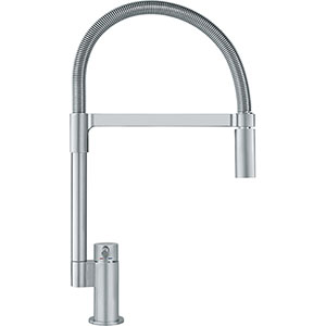 Franke FF2980 Manhattan Series Pull Down Faucet Dual Spray Feature Stream And Spray Kitchen Faucet, Satin Nickel
