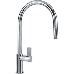 Franke FF3100 Ambient Series Pull-Down Kitchen Faucet With Side Lever, Polished Chrome