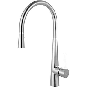 Franke FF3450 Series Pull-Down Kitchen Faucet With Side Lever, Stainless Steel
