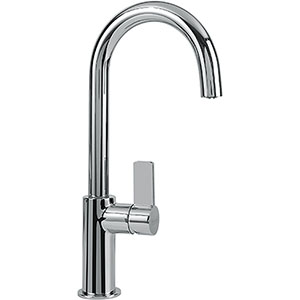Franke FFB3100 Ambient Series Arc Spout Kitchen Faucet With Side Lever, Polished Chrome