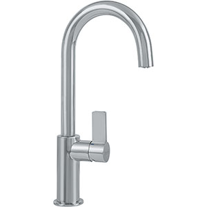 Franke FFB3180 Ambient Series Arc Spout Kitchen Faucet With Side Lever, Satin Nickel