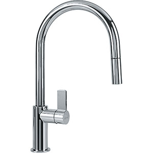 Franke FFP3100 Ambient Series Pull-Down Kitchen Faucet With Side Lever, Polished Chrome
