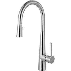 Franke FFP3450 Steel Series Pull-Down Kitchen Faucet With Side Lever, Stainless Steel
