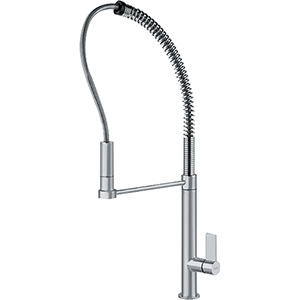 Franke FFPD2080 Masterchef Series Pull-Down Kitchen Faucet With Side Lever, Satin Nickel