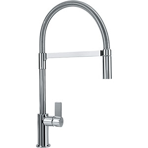 Franke FFPD3100 Ambient Series Pull-Down Kitchen Faucet With Side Lever, Polished Chrome