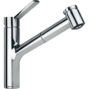 Franke FFPS3100 Ambient Series Single Handle Pull-Out Spray Kitchen Faucet, Polished Chrome