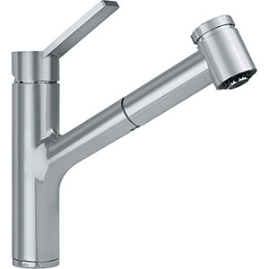 Franke FFPS3180 Ambient Series Single Handle Pull-Out Spray Kitchen Faucet, Satin Nickel