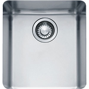 "Franke KBX110-13 Kubus 15"" Single Bowl Undermount Sink, Stainless Steel"