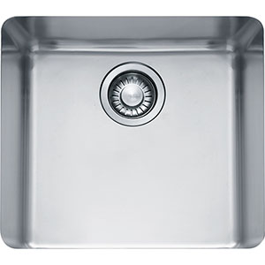 "Franke KBX110-18 Kubus 18"" Single Bowl Undermount Sink, Stainless Steel"