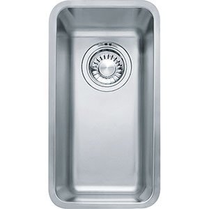 "Franke KBX110-8 Kubus 15-3/4"" Single Bowl Undermount Sink, Stainless Steel"
