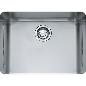 "Franke KBX11021 Kubus 16-15/16"" X 22-13/16"" Single Bowl Undermount Sink, Stainless Steel"