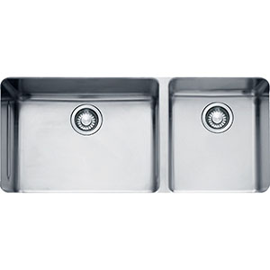 "Franke KBX12039 Kubus 38-4/7"" X 18-1/8"" Double Bowl Undermount Sink, Stainless Steel"