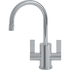 Franke LB10280 The Little Butler Series Hot & Filtered Cold Water Dispenser Faucet With 2 Handle Mixer, Satin Nickel