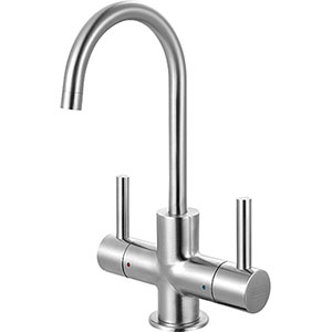 Franke LB13250 The Little Butler Series Hot & Filtered Cold Water Dispenser Faucet With 2 Handle Mixer, Stainless Steel