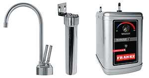 Franke LB8280-FRC-HT The Little Butler Series Filtered Hot & Filtered Cold Water Dispenser Combo, Satin Nickel