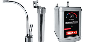 Franke LB9200 The Little Butler Series Hot & Filtered Cold Water Dispenser Faucet Combo, Polished Chrome