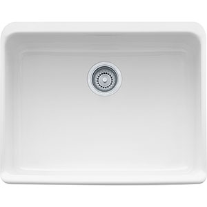 "Franke MHK110-24Wh Manor House 23 5/8"" Single Basin Apron Front Kitchen Sink Fireclay - White"