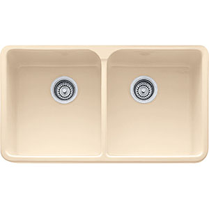 "Franke MHK720-31Bt Manor House 31 1/4"" Double Basin Apron Front Fireclay - Biscuit"