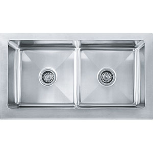 "Franke MHX720-36 Manorhouse 36"" Double Bowl Apron Front Sink, Stainless Steel"
