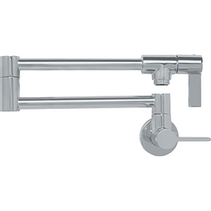 Franke PF3180 Ambient Series Wall Mounted Pot Filler, Satin Nickel