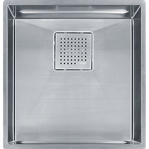 "Franke PKX11016 Peak 16-7/8"" X 17-3/4"" Single Bowl Undermount Sink, Stainless Steel"