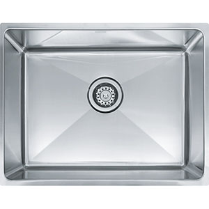 "Franke PSX1102110 Professional Series 23-4/5"" X 18-1/8"" Single Bowl Undermount Sink, Stainless Steel"
