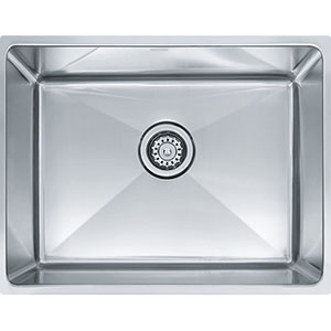"Franke PSX1102112 Professional Series 22-1/2"" X 17-5/8"" Single Bowl Undermount Sink, Stainless Steel"
