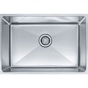 "Franke PSX1102412 Professional Series 25-1/2"" X 17-5/8"" Single Bowl Undermount Sink, Stainless Steel"