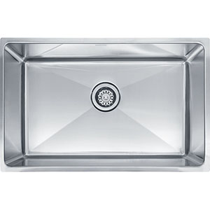"Franke PSX1102710 Professional Series 29-1/8"" X 18-1/8"" Single Bowl Undermount Sink, Stainless Steel"