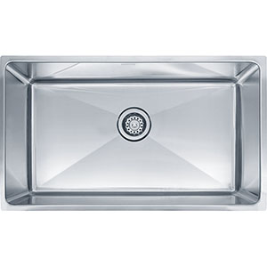 "Franke PSX1103010 Professional Series 31-7/8"" X 18-1/8"" Single Bowl Undermount Sink, Stainless Steel"