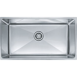 "Franke PSX1103310 Professional Series 34"" X 17-5/8"" Single Bowl Undermount Sink, Stainless Steel"