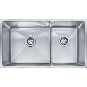 "Franke PSX120309 Professional Series 31-7/8"" X 18-1/8"" Double Bowl Undermount Sink, Stainless Steel"